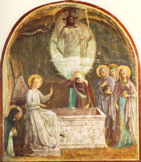 Resurrection of Christ and Women at the Tomb, Fra Angelico, 1440-41, Convento di San Marco, Florence