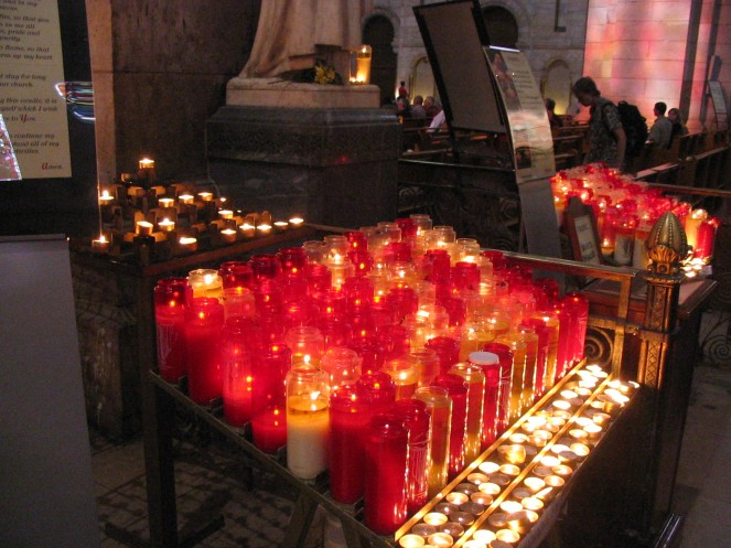 Sacre Coeur candles
