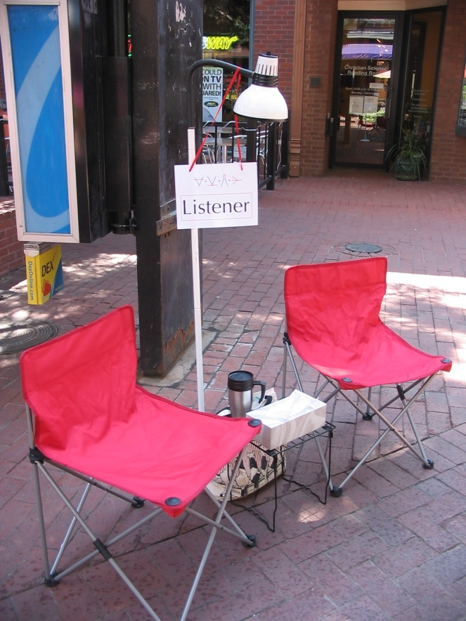 Listening on the Pearl Street Mall