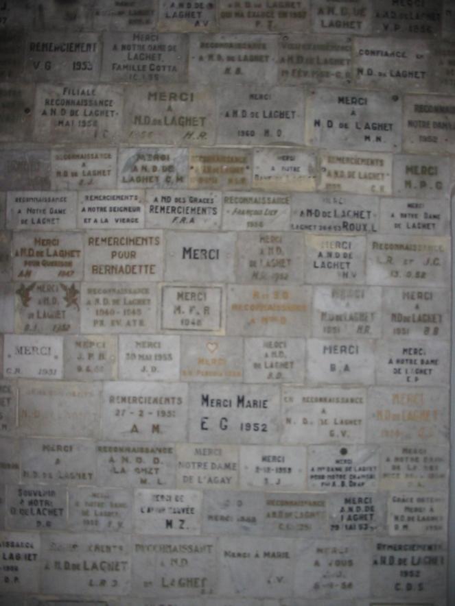 wall at Notre Dame de Laghet
